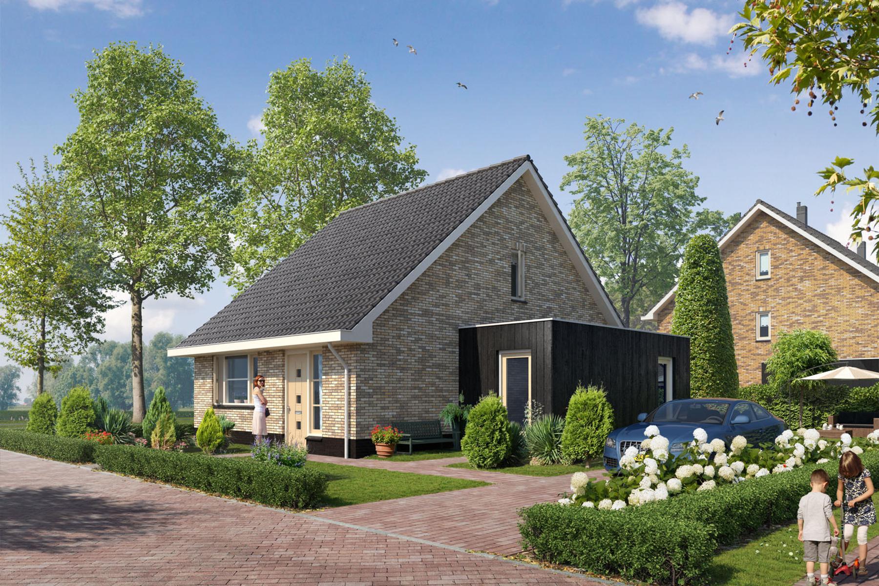Vrijstaande semi bungalow type f bouwnummer 801 in for Moderne semi bungalow bouwen