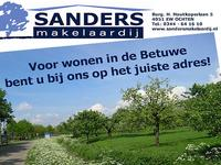 Sanders Makelaardij NVM makelaar<BR>Burg. H. Houtkoperlaan 5<BR>4051 EW Ochten<BR>0344 - 64 16 10<BR>www.sandersmakelaardij.nl