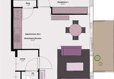 Appartement A3.2 in Waddinxveen 2743 CC