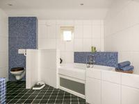 De royale badkamer en-suite is voorzien van een dubbele wastafelcombinatie, 2e toilet, inloopdouche en ligbad (de aansluitingen voor een whirlpool zijn aanwezig).