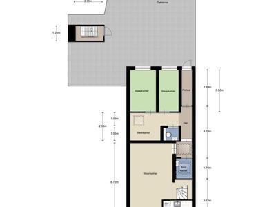 eerste verdieping met dakterras