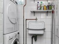 Er is ook een aansluiting voor de wasapparatuur.