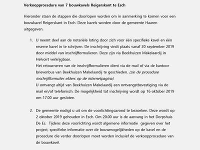 Reigerskant in Esch 5296