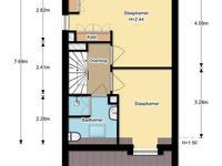 plattegrond - 1e verdieping