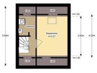 plattegrond - 2e verdieping