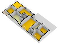 Eerste verdieping 3D