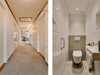 Hal en toilet levensloopbestendige woning bungalow Koudekerke