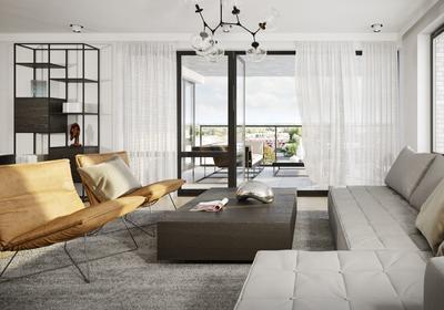 Dit is een impressie van de woonkamer van appartementstype I+<BR>De woningen worden ongemeubileerd geleverd.