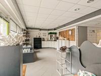 Begane grond:<BR>Thans is de begane grond nagenoeg volledig in gebruik als zijnde atelier, workshopruimte en kantine - keuken. <BR>In het midden van de gevel treft u de toegangsdeur aan tot de riante huidige expositieruimte met een tegelvloer en toegang tot de kelder.<BR><BR>Aan de linkerzijde is een voordeur gesitueerd welke als achterom voor de kantoor-/ werkruimten kan dienen. Hier is ook de meterkast opgesteld.